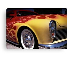 Flamable Chopped Mercury Hot Rod Photo Canvas Print