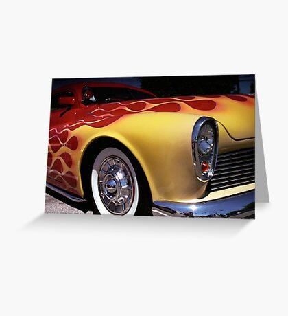 Flamable Chopped Mercury Hot Rod Photo Greeting Card