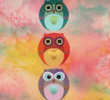 Three Little Owlets by Daniel Watts