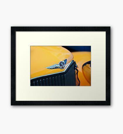 1934 Pontiac 8 Touring Sedan Emblem Framed Print