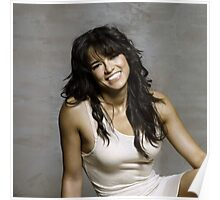 Zeman Michelle Rodriguez - Celebrity (Oil Paint Art) (Square) Poster