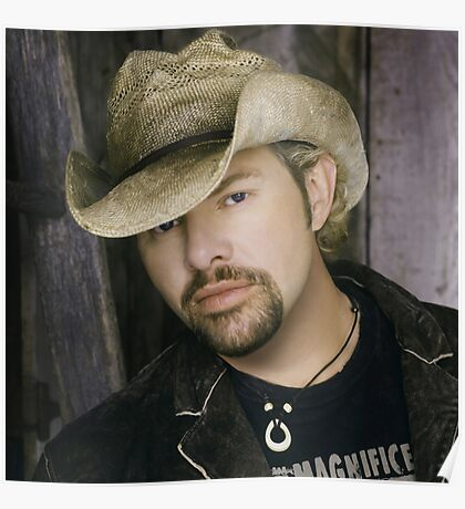 Toby Keith - Celebrity (Oil Paint Art) (Square) Poster