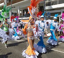 Colourful carnival in Lanzarote by Sue Gurney