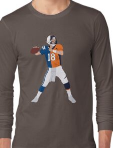 Peyton Manning Colts Broncos Combo Long Sleeve T-Shirt