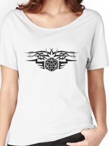 Tribal Dice black Women's Relaxed Fit T-Shirt
