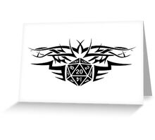 Tribal Dice black Greeting Card