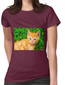 neon kitten Womens Fitted T-Shirt