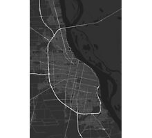 Rosario, Argentina Map. (White on black) Photographic Print