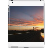 An empty expanse and sky iPad Case/Skin
