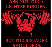 Broader Shoulders (Red Print) Photographic Print