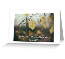 Chasing Cars Greeting Card