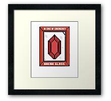 Break Glass for Emergency Money Framed Print