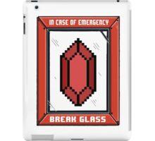 Break Glass for Emergency Money iPad Case/Skin