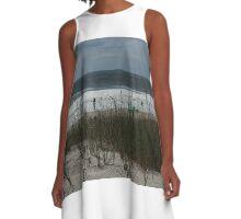 Dune, Grass, Ocean A-Line Dress