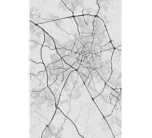 Campinas, Brazil Map. (Black on white) Photographic Print