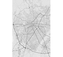 Curitiba, Brazil Map. (Black on white) Photographic Print