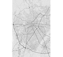 Curitiba, Brazil Map. (Black on white) Photographic Print