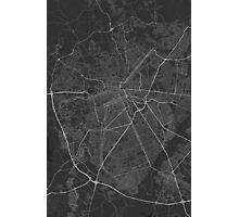 Curitiba, Brazil Map. (White on black) Photographic Print