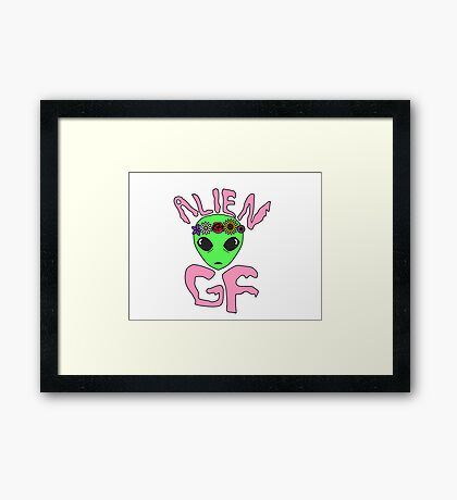 Alien Girlfriend Framed Print
