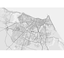 Fortaleza, Brazil Map. (Black on white) Photographic Print
