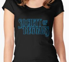 Society Of Beggars - Blue Women's Fitted Scoop T-Shirt