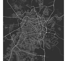 Goiania, Brazil Map. (White on black) Photographic Print