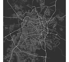 Goiania, Brazil Map. (White on black) Photographic Print