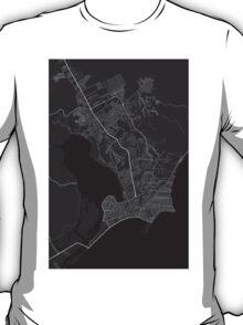 Maceio, Brazil Map. (White on black) T-Shirt