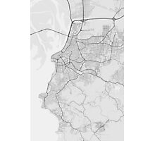 Porto Alegre, Brazil Map. (Black on white) Photographic Print