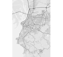 Porto Alegre, Brazil Map. (Black on white) Photographic Print