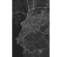 Porto Alegre, Brazil Map. (White on black) Photographic Print