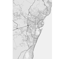 Recife, Brazil Map. (Black on white) Photographic Print
