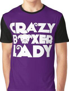 Crazy Boxer Lady Graphic T-Shirt