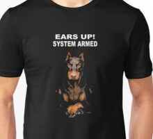 Ears Up System Armed Tee Shirt DOBERMAN Unisex T-Shirt