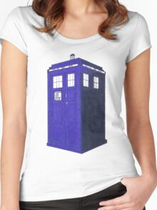 Tardis - Hand Drawn and Colored Women's Fitted Scoop T-Shirt