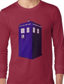 Tardis - Hand Drawn and Colored Long Sleeve T-Shirt