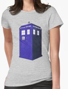 Tardis - Hand Drawn and Colored Womens Fitted T-Shirt