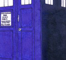 Tardis - Hand Drawn and Colored Sticker