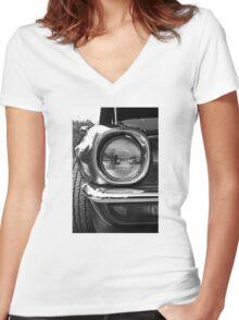 Camaro Head Light detail Women's Fitted V-Neck T-Shirt