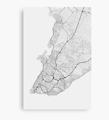 Salvador, Brazil Map. (Black on white) Canvas Print