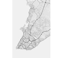 Salvador, Brazil Map. (Black on white) Photographic Print