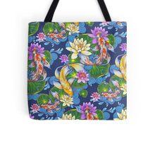Lotus Koi Pond Tote Bag