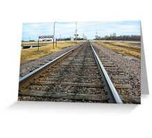 Tracks for a Downbound Train in Moorhead, MN Greeting Card