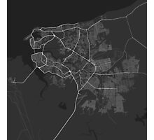 Sao Luis, Brazil Map. (White on black) Photographic Print