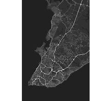 Salvador, Brazil Map. (White on black) Photographic Print