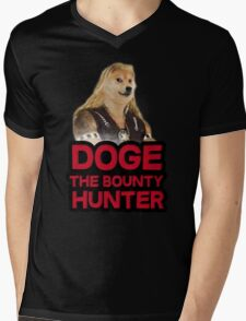 Doge (dog) the bounty hunter Mens V-Neck T-Shirt