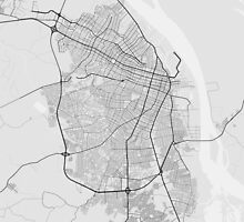 Barranquilla, Colombia Map. (Black on white) by Graphical-Maps