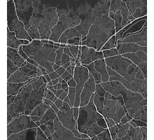Sao Paulo, Brazil Map. (White on black) Photographic Print