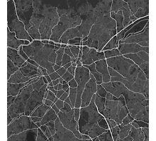 Sao Paulo, Brazil Map. (White on black) Photographic Print