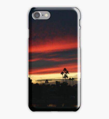 Blue and pink clouds iPhone Case/Skin